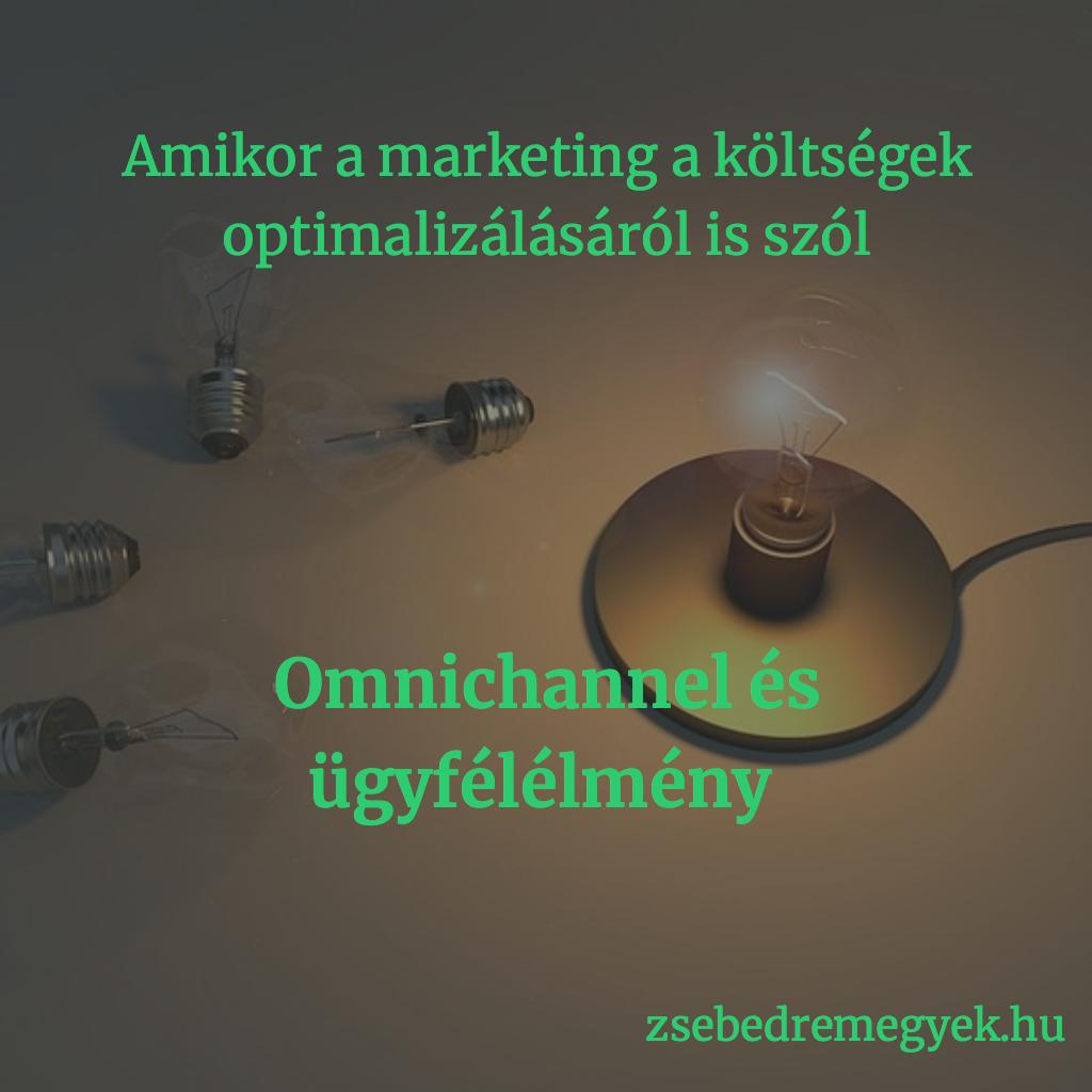 Omnichannel - ez az a marketingeszköz, ami nemcsak a bevétel növelésével foglalkozik, hanem a költségeid optimalizálásával is.